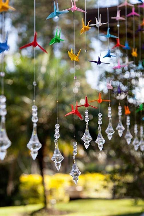 cortina de origami