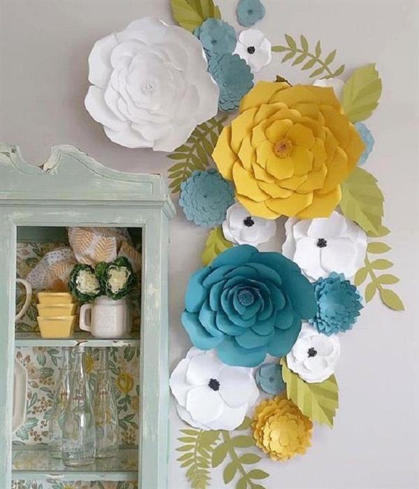 decoração sala flores