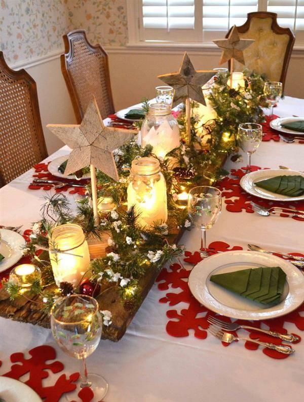 decoraçao de natal com vidros