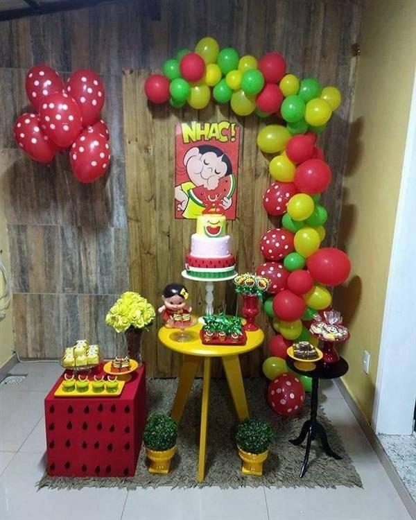 festa magali com balões