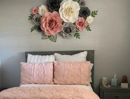 flores na cabeceira