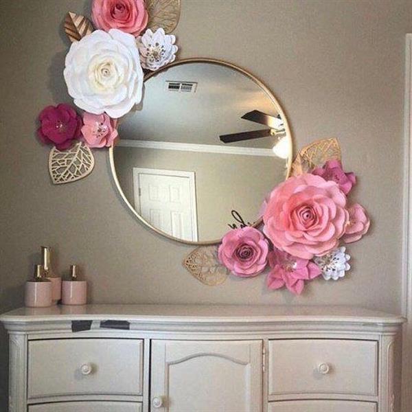 flores no espelho