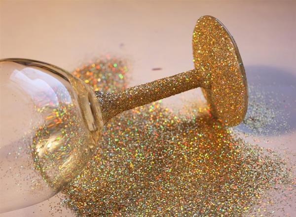 taça personalizada com glitter