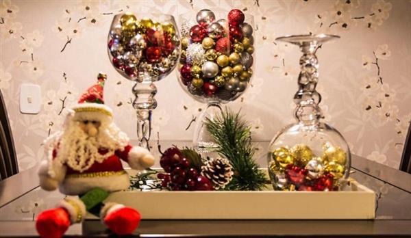 taças decoradas para natal