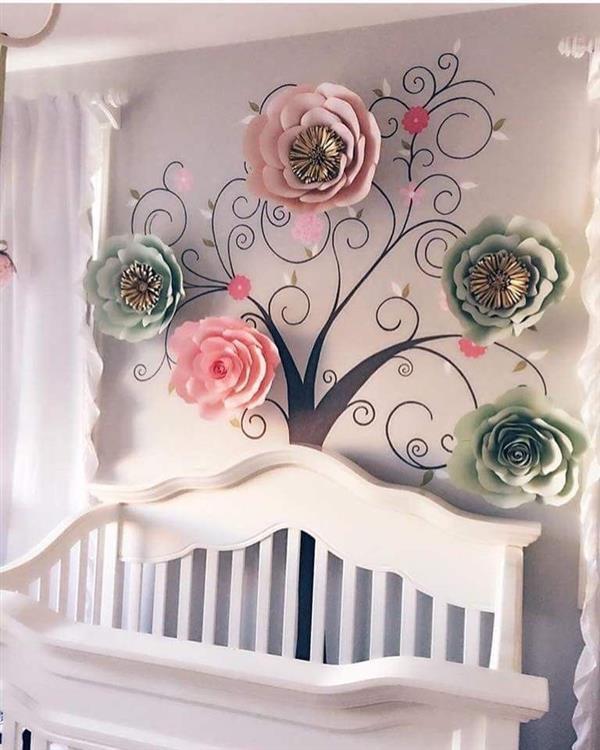 quarto com flores