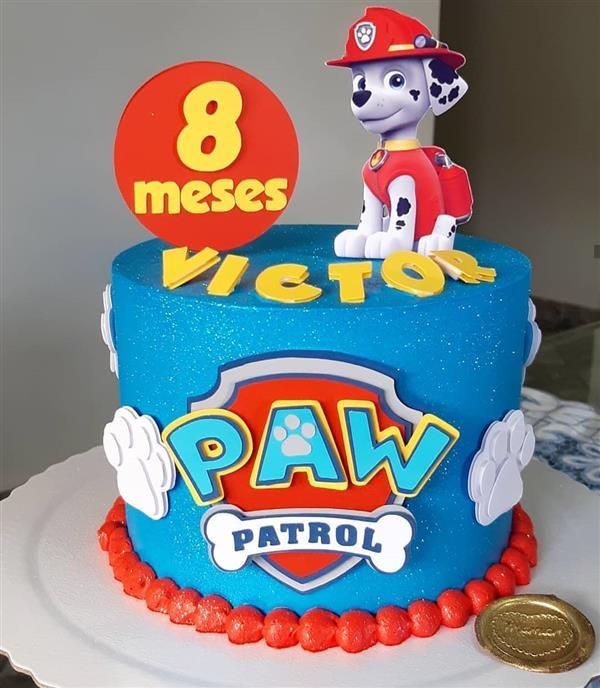 bolo mesversario patrulha canina