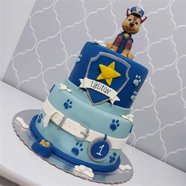 bolo patrulha canina azul