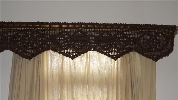 bando de croche para cortina