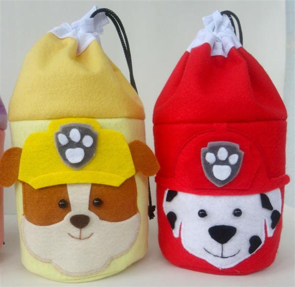 bolsa de feltro patrulha canina