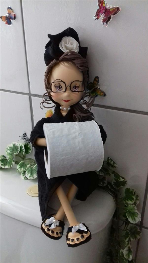 boneca de eva para papel higienico