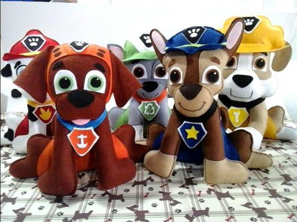 bonecos de feltro patrulha canina