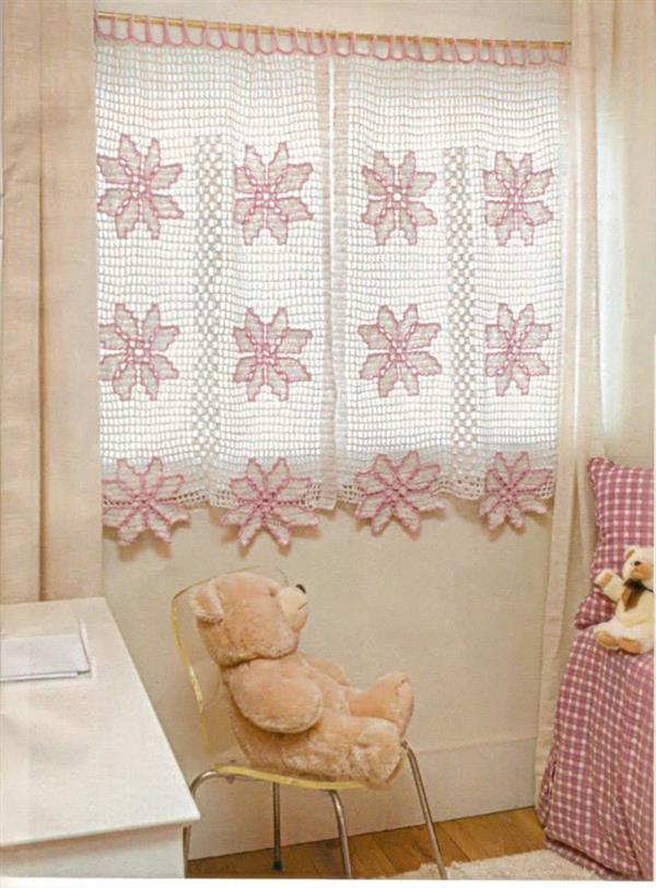 cortina croche quarto
