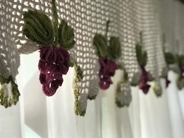 cortina-de-croche-com tecido