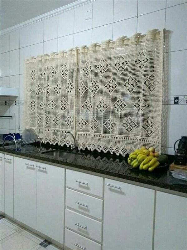 cortina de croche cru cozinha