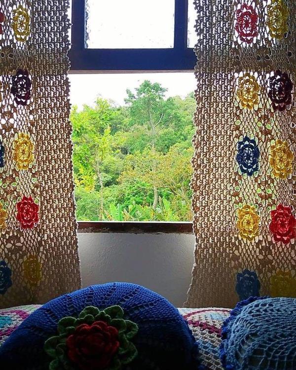 cortina de croche para quarto