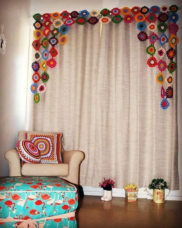 cortina de croche para sala