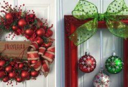 ornamentação natal porta