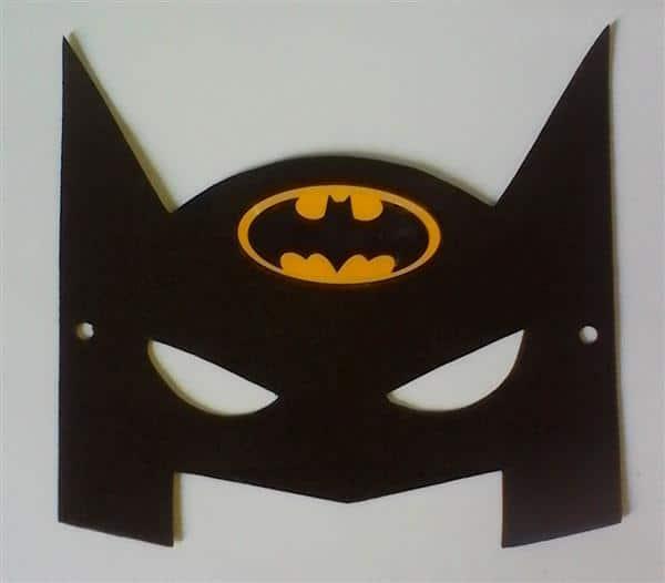 Mascara Do Batman Molde Eva Feltro E Papel Artesanato Passo A