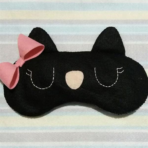 mascara de dormir de gatinho