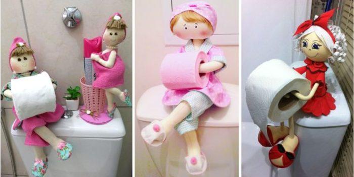 Bonecas porta papel higienico