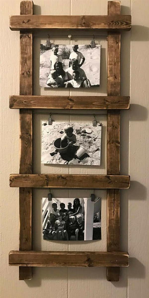 porta retratos de madeira