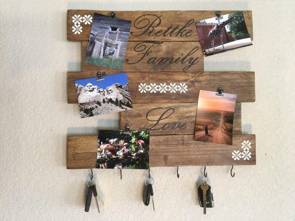 reciclagem-painel-de-fotos-pedaços-de-madeira