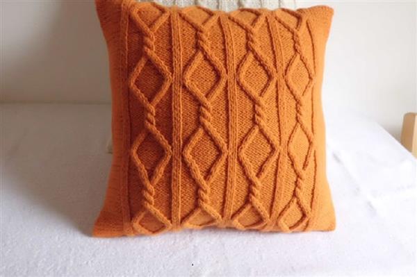 como fazer almofadas de tricô