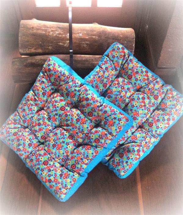 almofada futon colorida