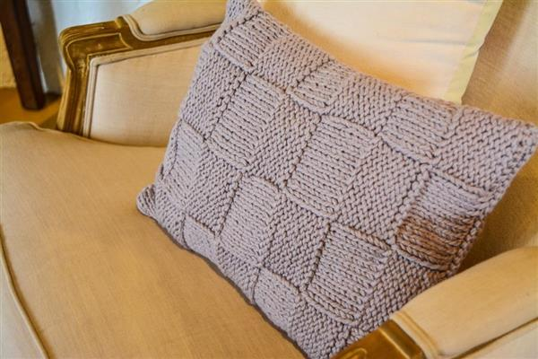capas de almofadas de trico