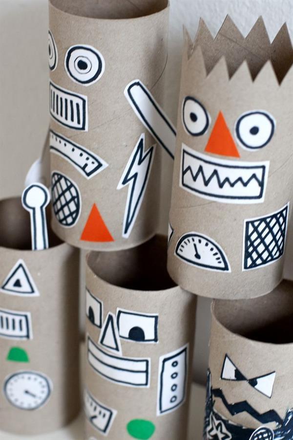 robo de rolo de papel