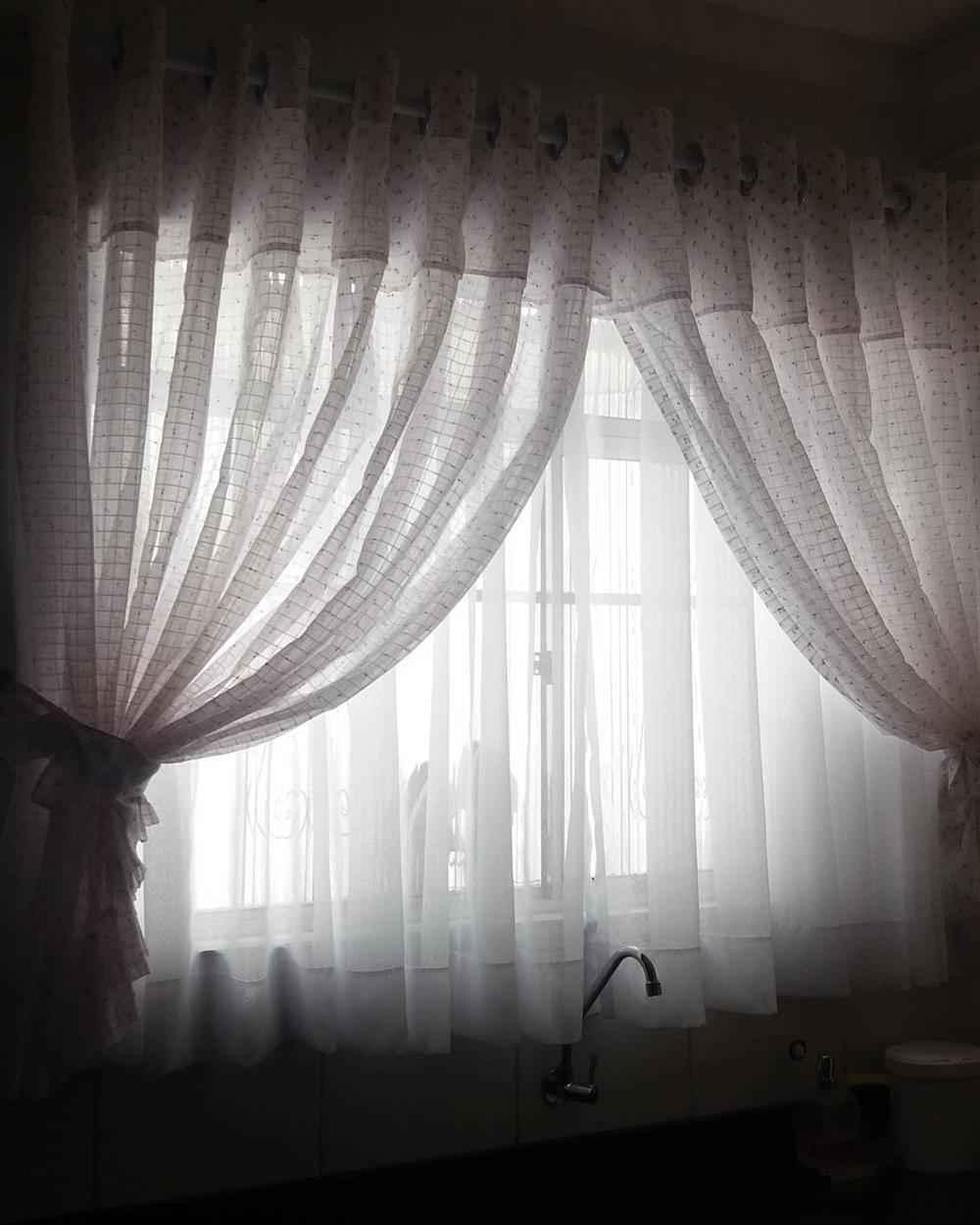 cortina de tecido para cozinha