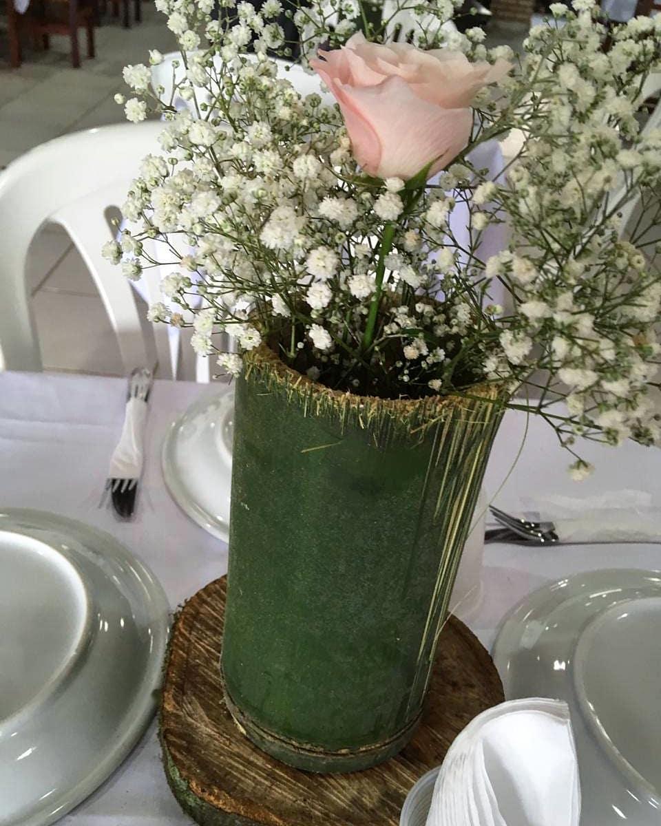 bambu verde em casamento