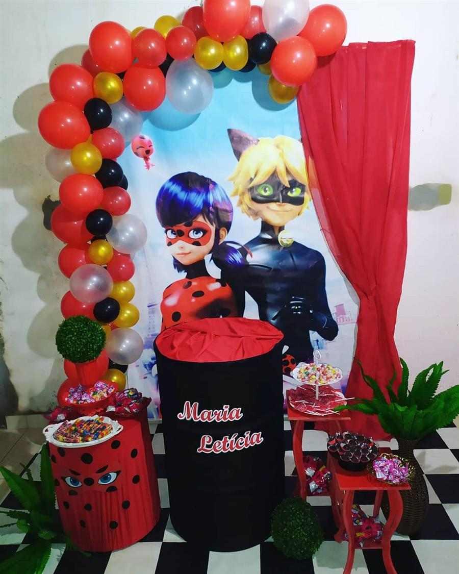 festa ladybug minetable