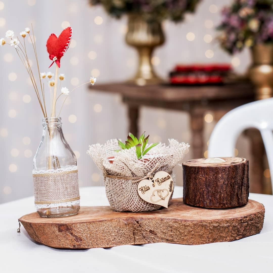 centro de mesa com feltro