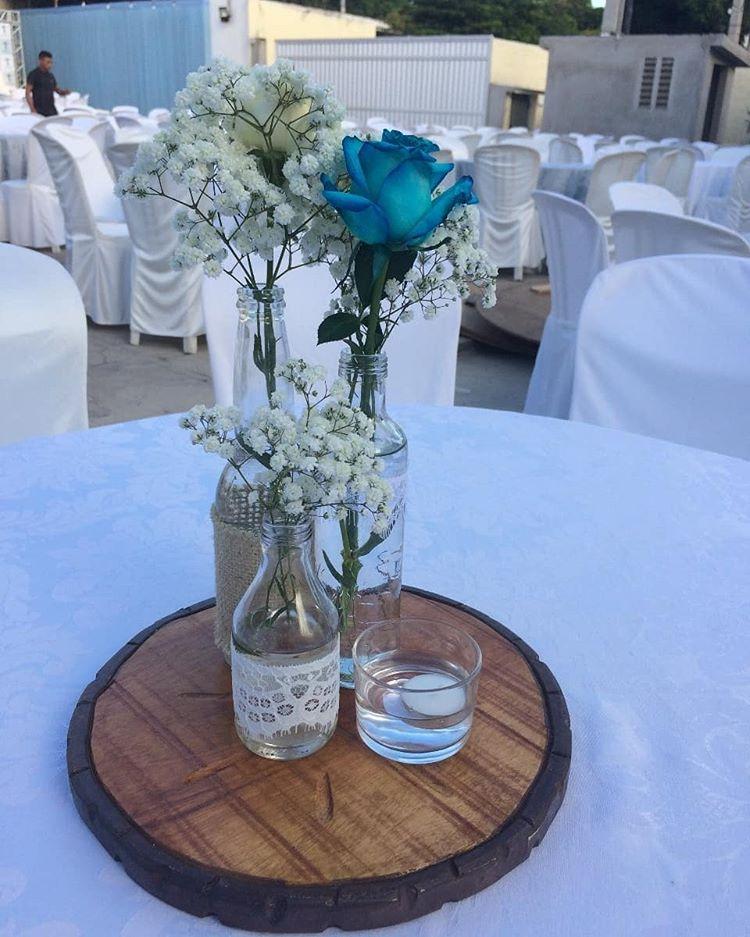 flores azul para casamento