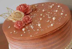 topo de bolo scrap rosas