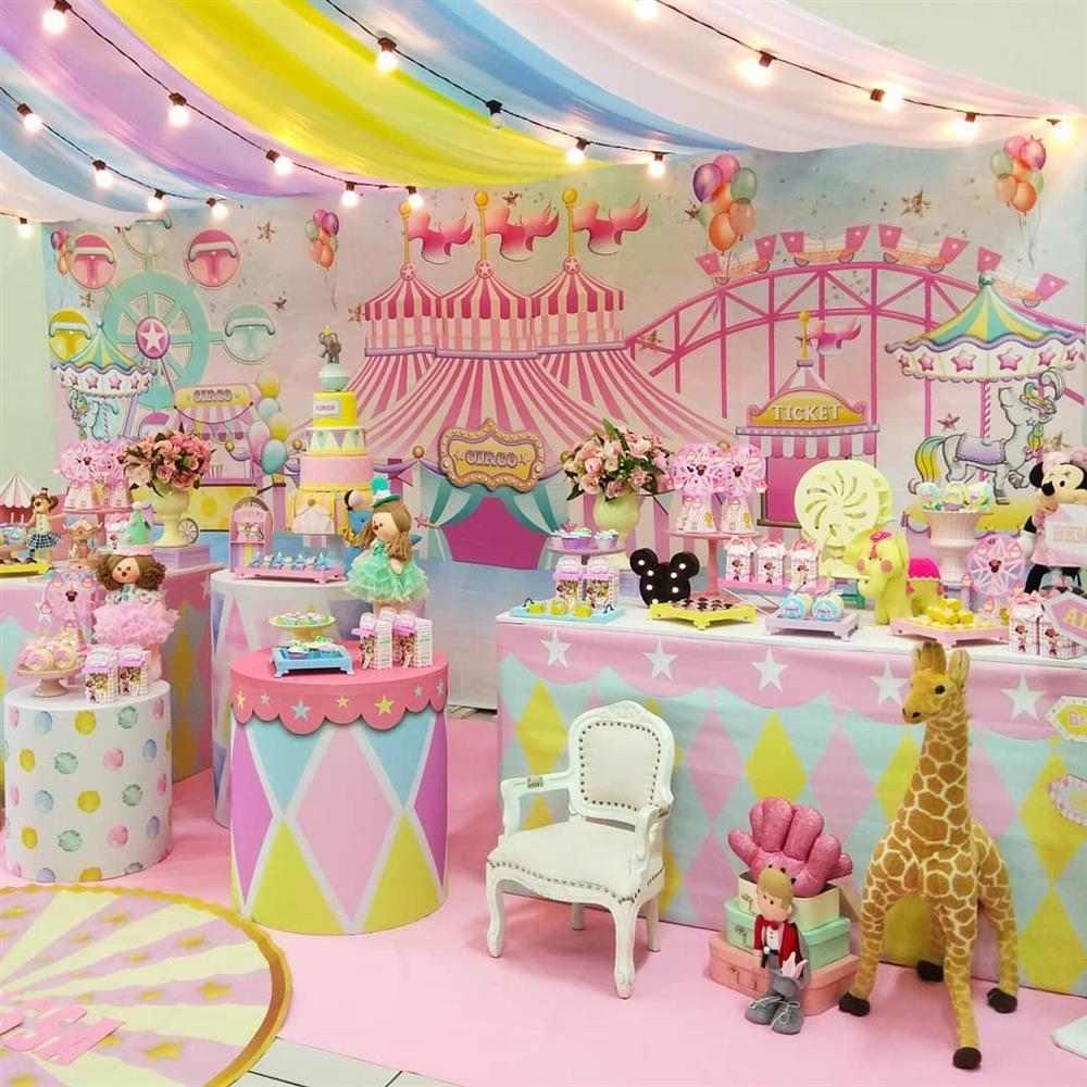 festa circo menina