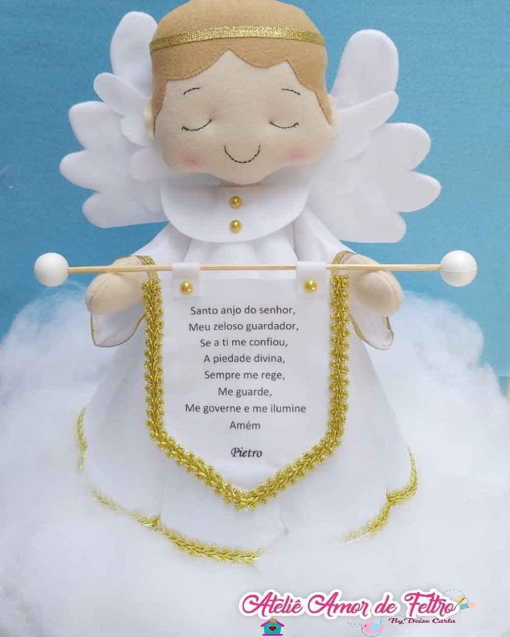 anjinho com a oração do santo anjo