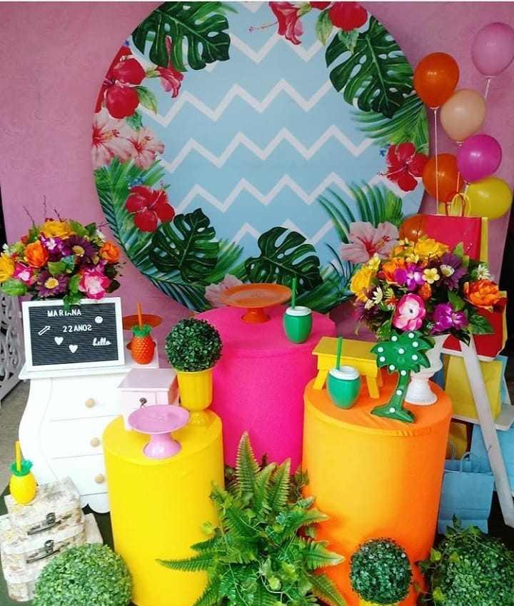 festa tropical adulto