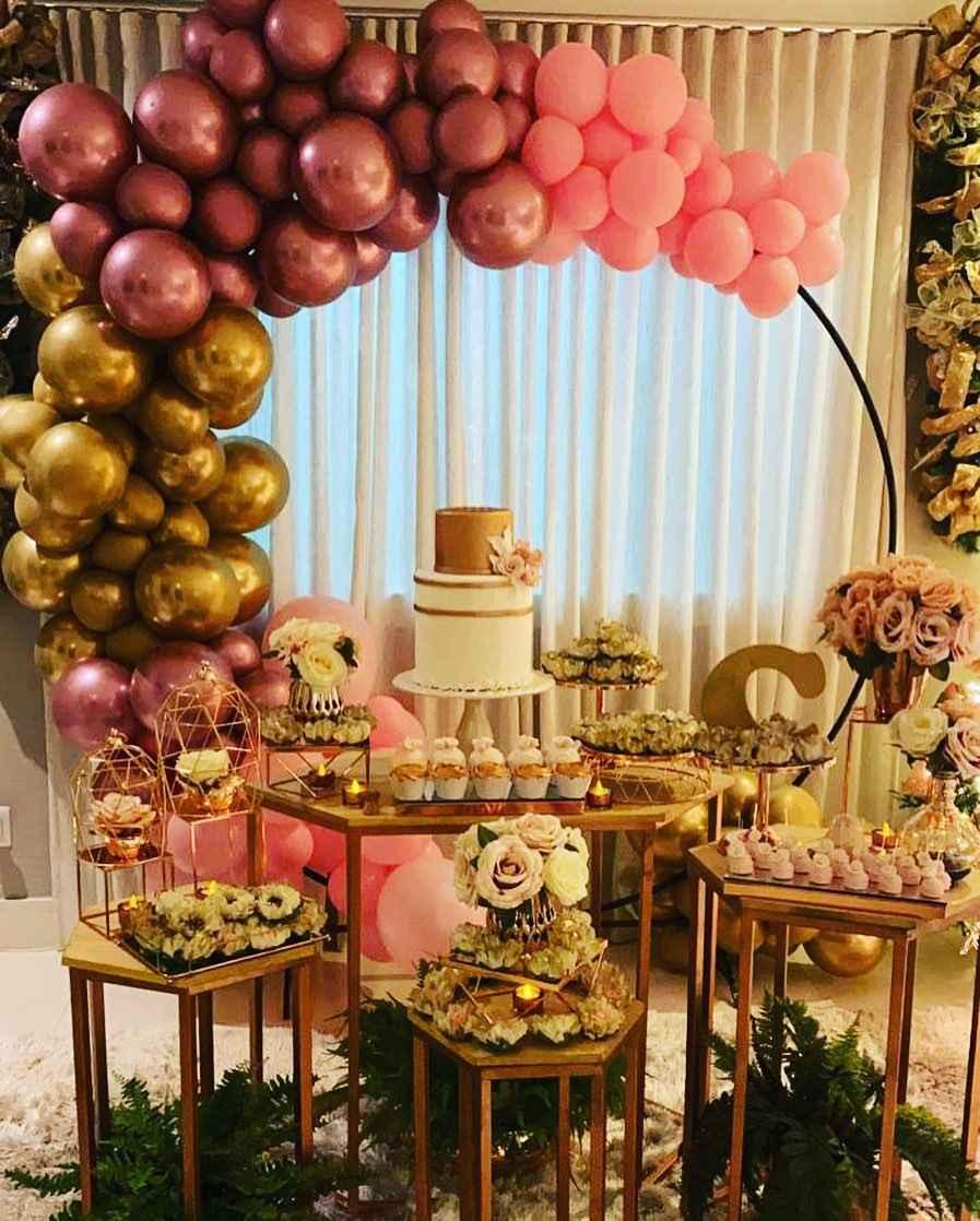 decoração com arco de balões