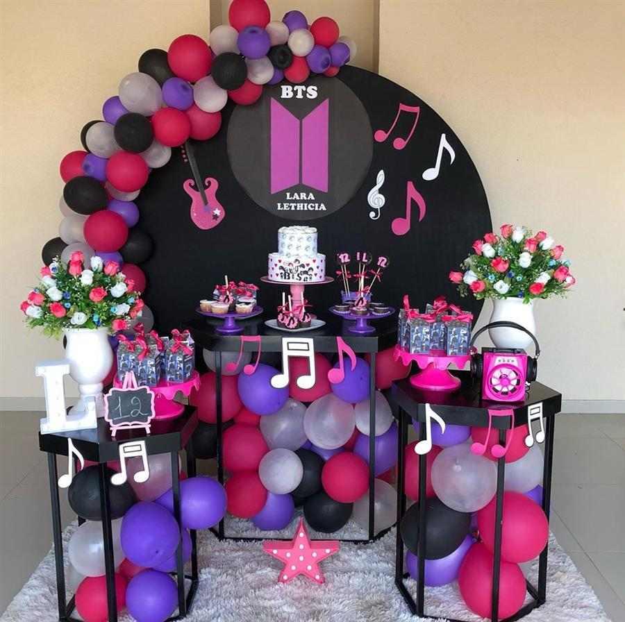Festa decorada bts