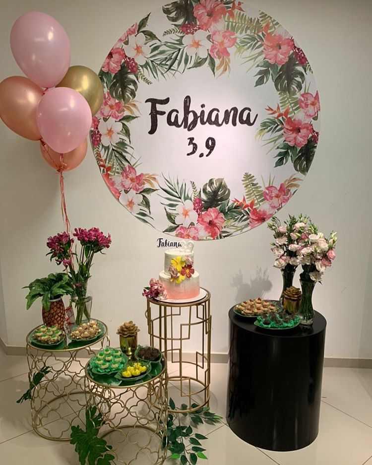 Festa decorada feminina