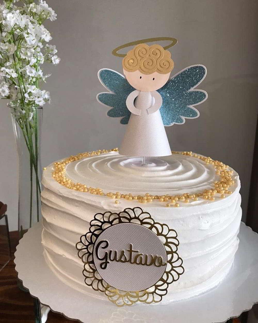topo de bolo batizado