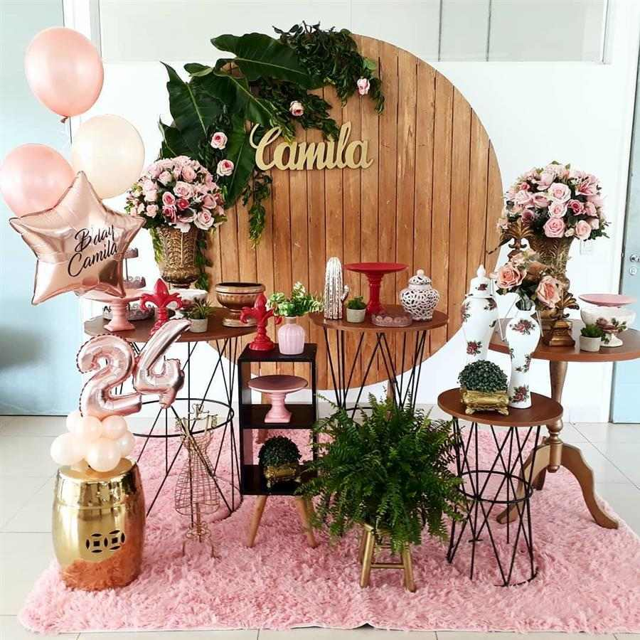 Festa feminina com rose