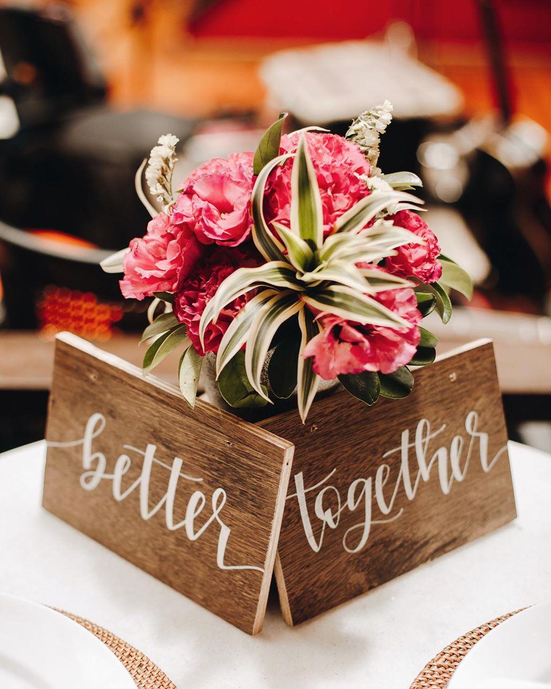 cento de mesa para noivos