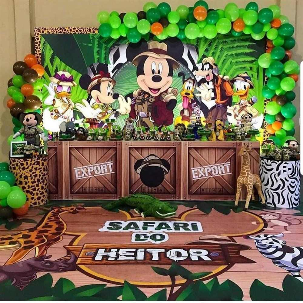 Tema de festa infantil mickey safari