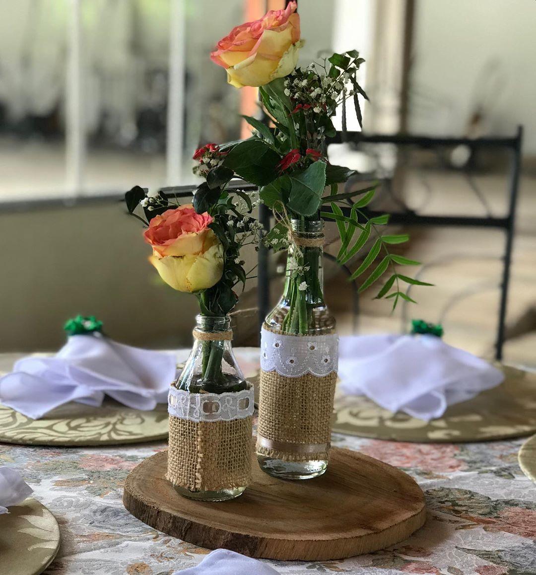 centro de mesa para casamento simples