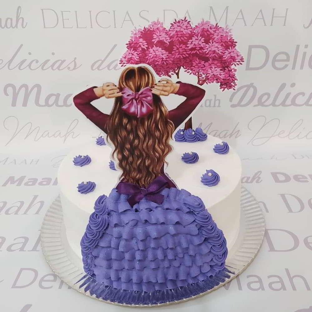 topper de bolo feminino