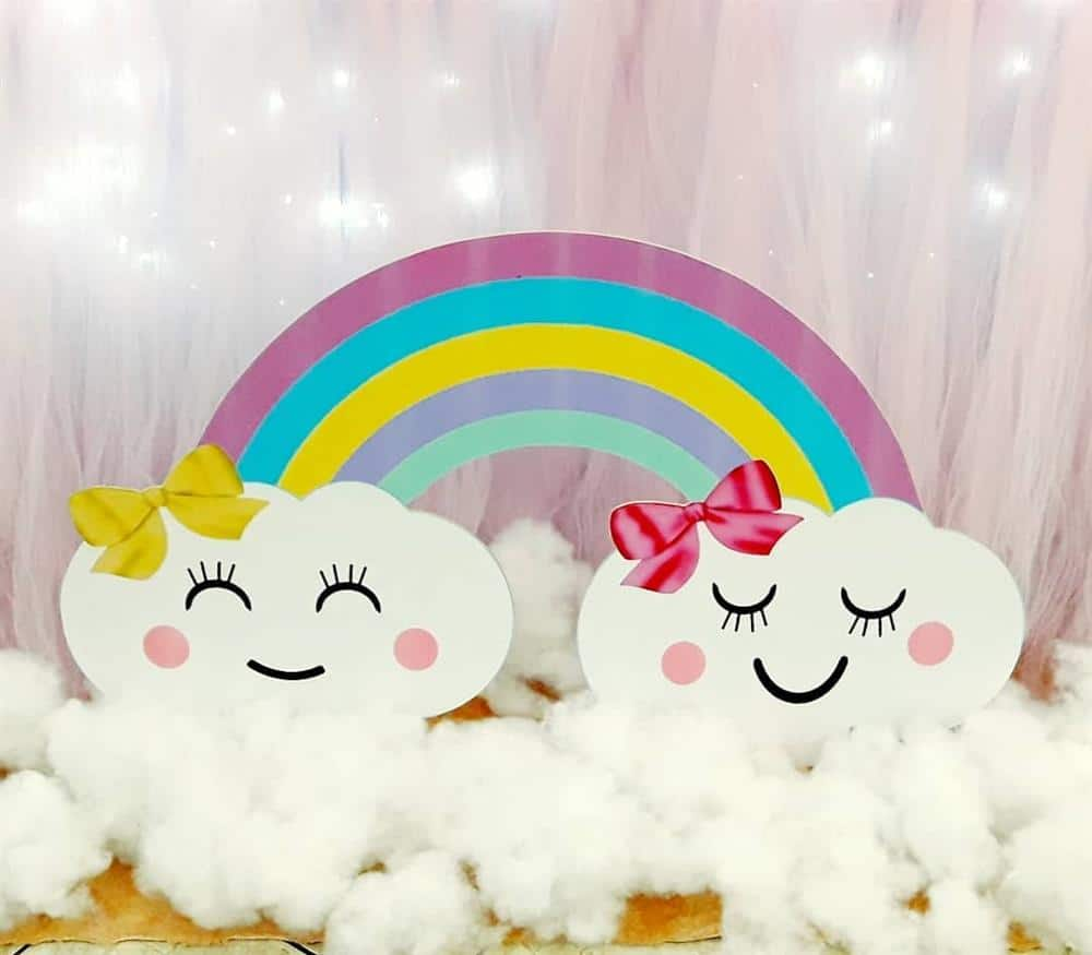 arco iris chuva de amor