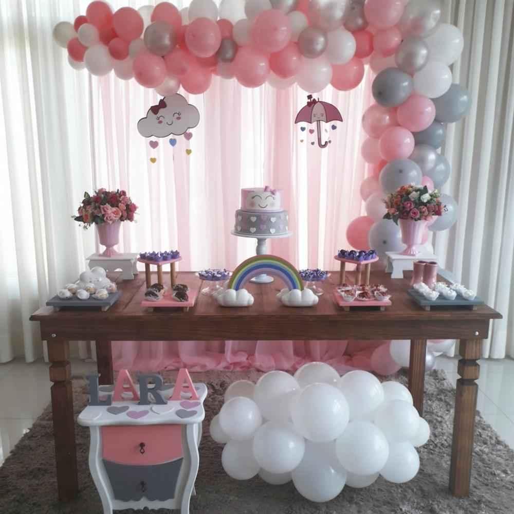 decoração chuva de amor rosa